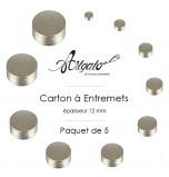 Cartons à Entremets | Argent - Ronds 12 mm d'épaisseur - Par 5