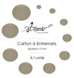 Cartons à Entremets - Argent - Ronds