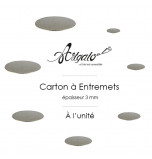 Cartons à Entremets - Argent - Ronds 3 mm