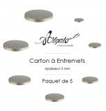 5 Cartons à Entremets - Argent - Ronds 3 mm