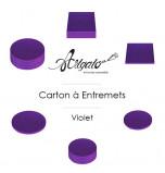 Cartons à Entremets, Violet 12 mm d'épaisseur