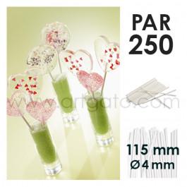 Bâtons de sucettes - 115 x Ø 4 mm, Sachet de 250
