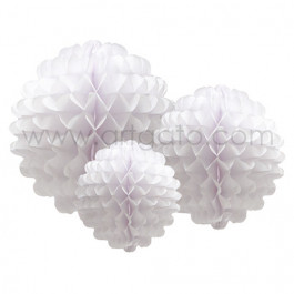 Pompons   Blanc