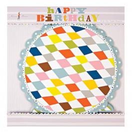 HAPPY BIRTHDAY | Présentoir à Gâteaux 1 Etage