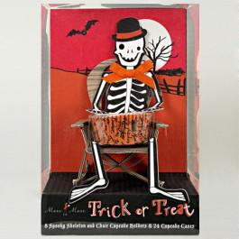 8 Présentoirs Cupcake individuel Squelette Meri Meri®