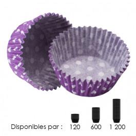 Caissettes Standard Violettes à Pois