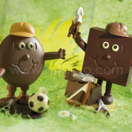 Moule à chocolat, Assortiment Ballons Football, Rugby, Basket-Ball, Baseball
