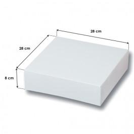 Boîtes Pâtissières Blanches Haut. 8 cm - 28 x 28 cm