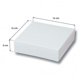 25 Boîtes Pâtissières Blanches Haut. 5 cm - 16 x 16 cm