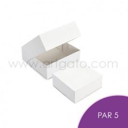 5 Boîtes Pâtissières Blanches par 5