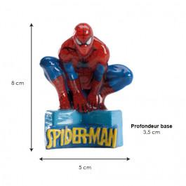 Bougies Anniversaires Spiderman - Dimensions