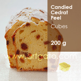 Candied Cedrat Peel in cubes
