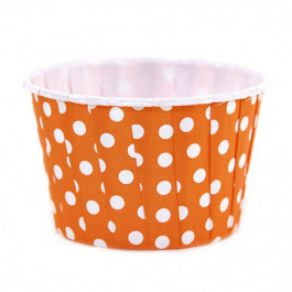 6 Caissettes Friandises (Nut Cups)   Orange à pois