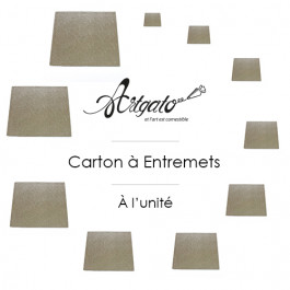 Cartons à Entremets - Argent - Carrés