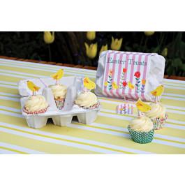 Meri Meri® Pâques   Boîtes pour 6 mini Cupcakes façon Boîte à œufs