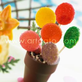 Recette - Sucettes Chocolat et Sucre Coloré