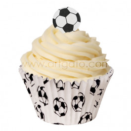 120 Caissettes Cupcakes – Taille Standard   Football