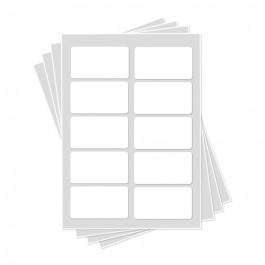 Feuilles de Glaçage   10 Cartes de visite de 9 x 4,8 cm