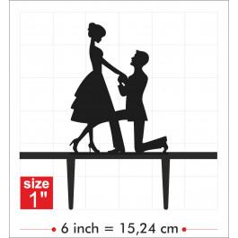 Décors Ombre Chinoise - Demande en Mariage - Dimensions