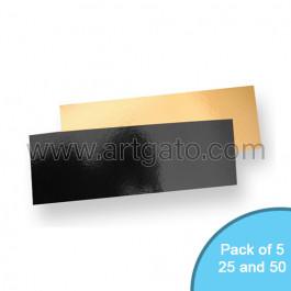 Gold Black Mirror Cake Cards