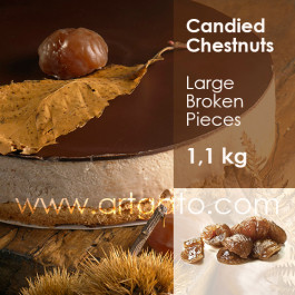 Candied Chestnuts - Large Broken Pieces