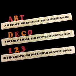 Découpoirs  Lettres Majuscules & Chiffres Art Déco