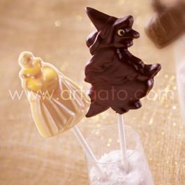 Sucettes Chocolat - Princesse et Sorcière