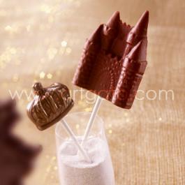 Sucettes Chocolat - Château et Couronne