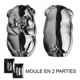 Moule à Chocolat, Cochon 3D (2 moules)