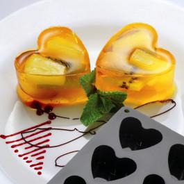 Moule Silicone Cake en Stock®   8 COEURS