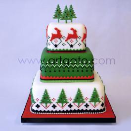 Moules à gâteau - carrés - Idée de Noël