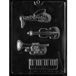 Moule à Chocolat, Saxo, Violon, Trompette, Clavier
