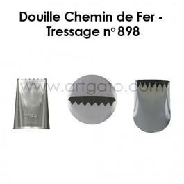 Douille Pâtissière | Chemin de Fer/Ruban/Bûche #898