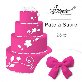 Pâte à sucre | Rose Fuchsia - 2,5 kg