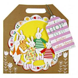 Meri Meri® Pâques   Présentoir à Gâteau ou Cupcakes 1 Etage, Lapins