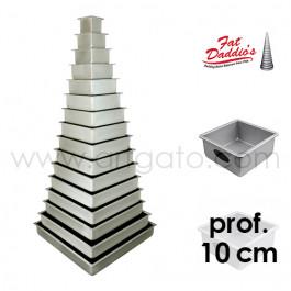 Moules à gâteau - carrés - prof. 10 cm