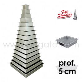 Moules à gâteau - carrés - prof. 5 cm