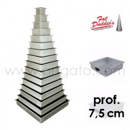 Moules à gâteau - carrés - prof. 7,5 cm