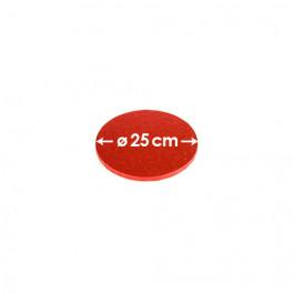 Cartons à entremets - Rouge - Ronds 25 cm