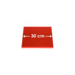 Cartons à entremets - Rouge - Carrés 30 cm