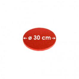 Cartons à entremets - Rouge - Ronds 30 cm