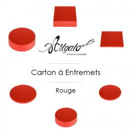 Cartons à entremets - Rouge