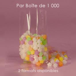 1 000 Sachets Cellophane à Soufflets