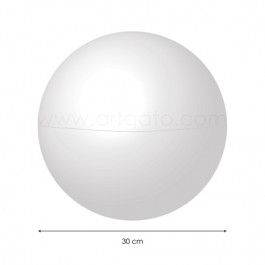 Sphère creuse en Polystyrène 30 cm diamètre - Artgato