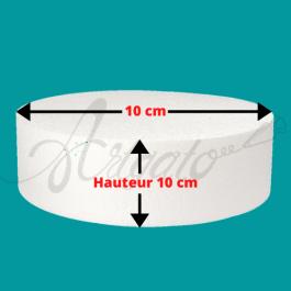 Base Polystyrène 10 cm Hauteur 10 cm Diamètre