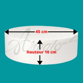 Socle Polystyrène Rond Hauteur 10 cm Diamètre 45 cm