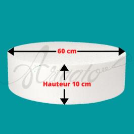 Base Polystyrène 10 cm Hauteur 60 cm Diamètre