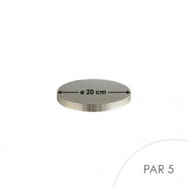 5 Cartons à Entremets - Argent - Ronds 3 mm - 20 cm