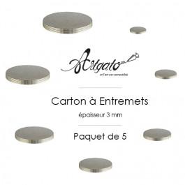 5 Cartons à Entremets - Argent - Ronds 3 mm