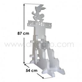 Présentoir Polystyrène Pâques - Dimensions